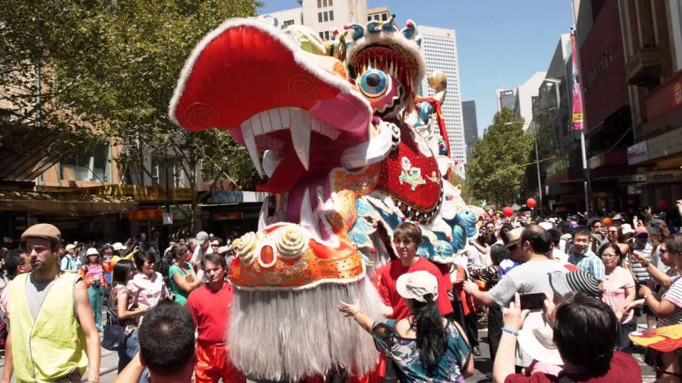 Chinese Dragon Parade in Melbourne